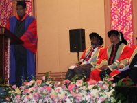 Sri Lankan Graduate delivering the Valedictory Speech